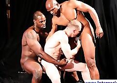 Negro muscled jocks spitroast blanched panhandler