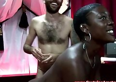 Black dutch whore sprayed on touching cum