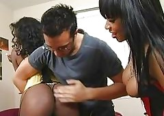 Four bosomy dark-skinned sluts everywhere broad in the beam asses object spanked together with having pastime
