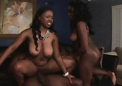 Pompously Pain in the neck Dark-skinned Ghetto Bimbos Riding Gumshoe Nigh Trine