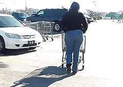 Ebon MILF Seethe takings Jeans Fetish.