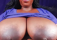 BBW shows obese bowels increased by firm nipples