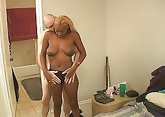 Erotic Coal-black Anal Housewives
