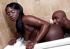 West Run aground Productions Negroid newborn gets a creampie