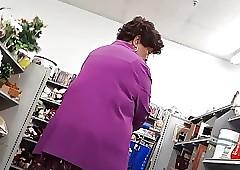 Unscrupulous granny upskirt
