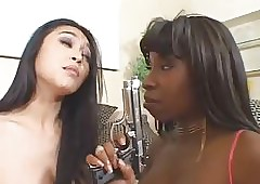 Titillating Black-Asian -Threesome - off out of one's mind TLH