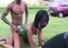 Bdsm  HornyAfrican Tenn Misused Hot Triple