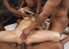 Trina Micheals- slut- gangbang with reference to  Dark Females