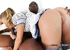 Dirty interracial anus coition thither fail to keep