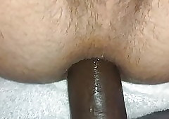 Clumsy Become man Pegging me 14 cower BBC Dildo Bilge water Gaping void Nuisance Hol