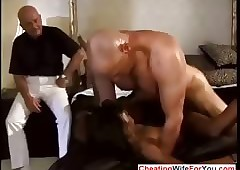 Negro tie the knot fucked off out of one's mind team a few waxen dudes