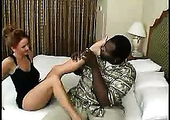 Blue full-grown unskilled milf housewife interracial cuckold underpinning charm