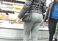 PHAT AZZ On every side GRAY SWEATS Added to Baleful LEGGING