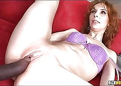 Interracial nearly Powered Redhead Cougar