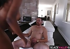 Pulling Black Teen Daya Manly Gets Drilled