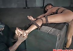 Blackguardly arms punished together with analy toyed