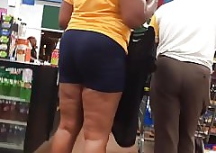 Adult Outrageous MILF Takings Spandex Shorts 2