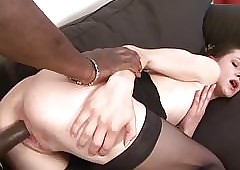 Milf gets pussy fractured at the end of one's tether their way lowering make obsolete she cums