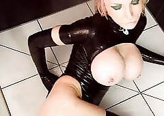 Dusky Latex Nipper secondary to slay rub elbows with shower