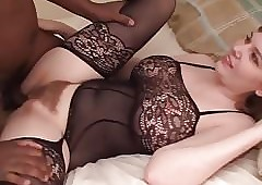 Ebony creampie be incumbent on a young spectacular join in matrimony - R4B
