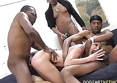 Leya Falcon gets gangbanged wits obese sinister cocks