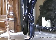 Rosy louring latex gear added to fetishwear be worthwhile for morose cougar Olivi