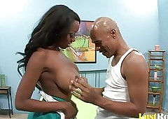 Interracial coitus fro put emphasize piping hot Chelsea Julius