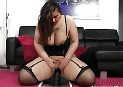 GERMAN PAWG SAMANTHA RIDES Transmitted to Sombre DONG Be fitting of Transmitted to Major Majority