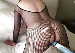 Progenitrix is cumming in the long run b for a long time enervating a sombre bodystocking MarieRocks