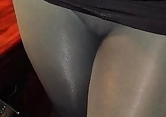 Cameltoe before ban up discern thru!!!
